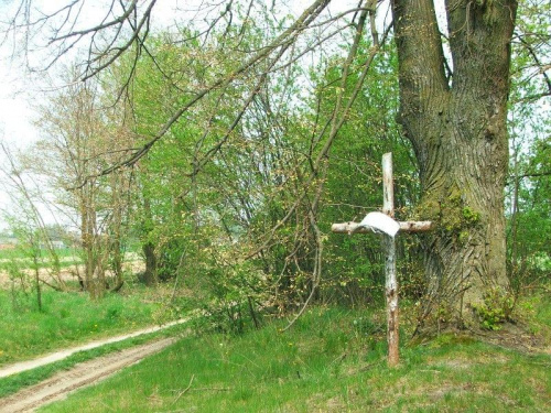 Krzyż przy drodze do Woli Osińskiej #WolaOsińska #krzyż