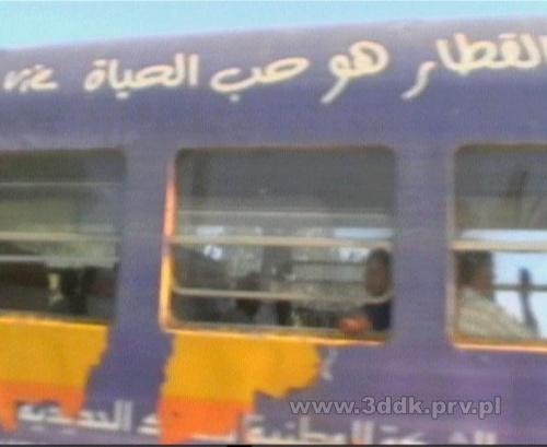 Przejazd kolejowy na trasie Hammamet - Tunis w Hammamecie Północnym, w pobliżu Hotelu Dalia. #Tunezja #pociąg #przejazd #hammamet #HotelDalia