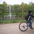 fontanna na zatorku:) #fontanna #rower #Olsztyn #zatorze