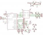 Układ z silnikami krokowymi i czujnikiem temperatury
