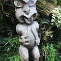 Centrum Kultury Polinezyjskiej - bożki nas witają - chyba zadowolony z naszej wizyty? #kultura #wgzotyka #taniec