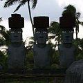 Centrum Kultury Polinezyjskiej - rada bożków (jeden kapelusz stracił) #kultura #egzotyka #taniec #rośliny